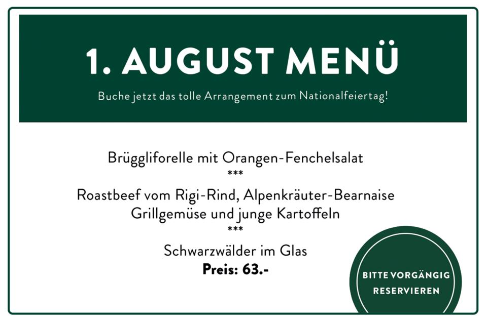 1. August Menü Lok 7 Restaurant