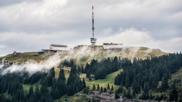 Rigi Kulm im Nebel