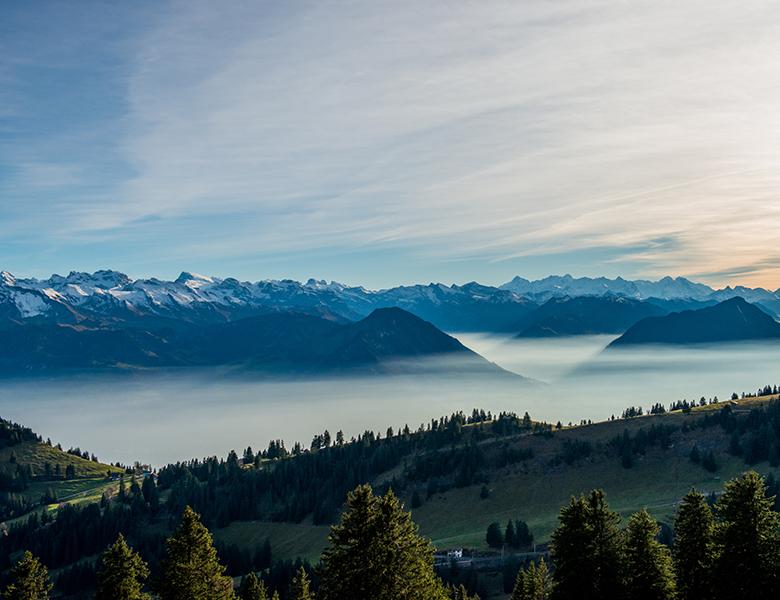 Aussicht von der Rigi mit Nebelmeer
