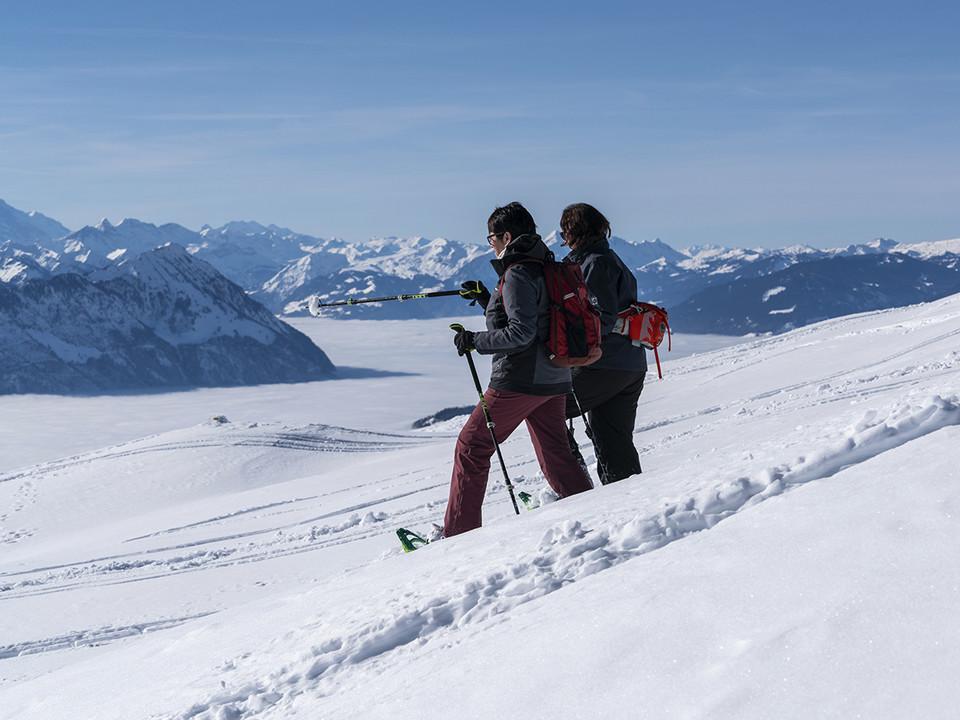 Schneeschuhlaufen auf der Rigi