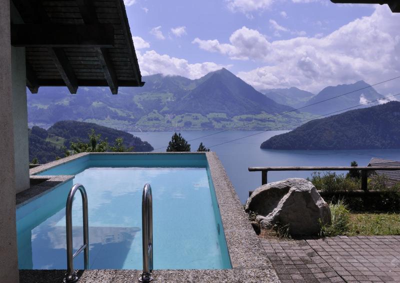 Ferienhaus Casa Bucher Pool und Panorama