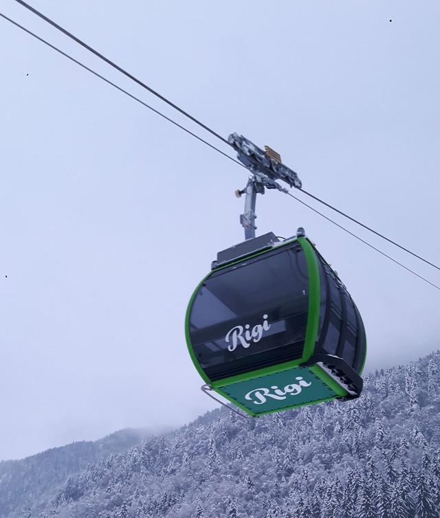 Luftseilbahn Rigi Scheidegg Winter