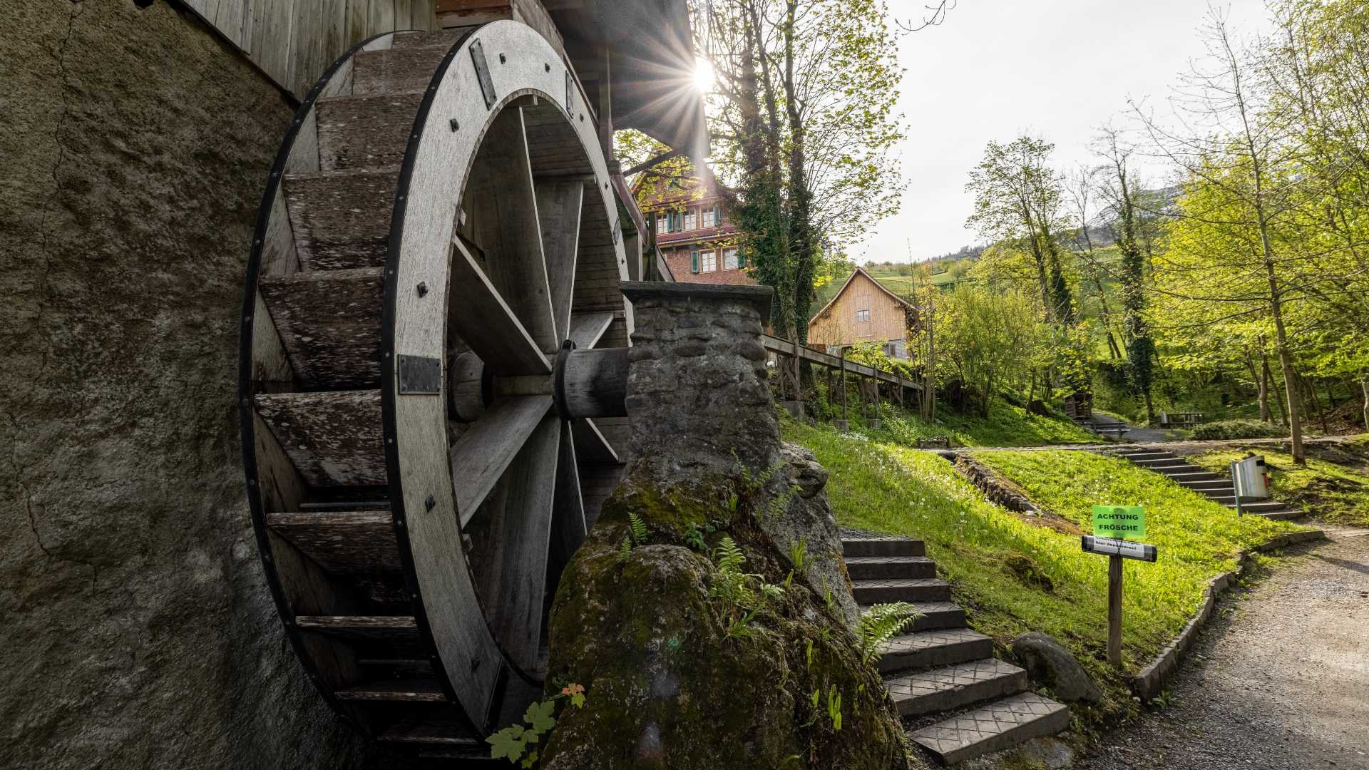 Mühlerad unterhalb der Gesslerburg