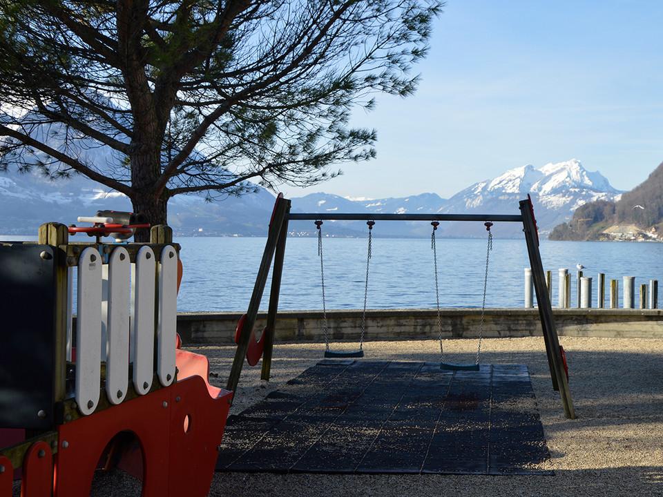 Gersau Seepromenade Spielplatz