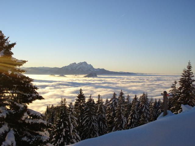Aussicht Winter Hinterbergen