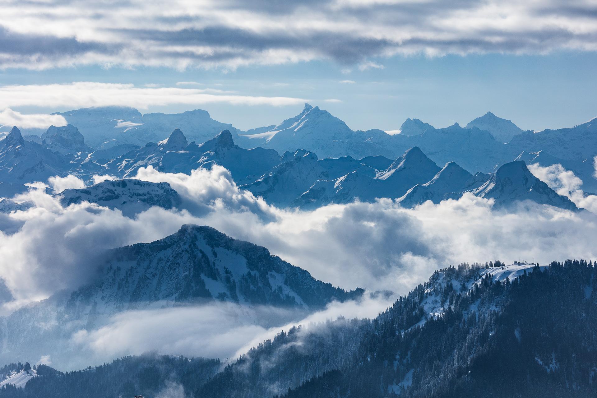 Winterlandschaft auf der Rigi