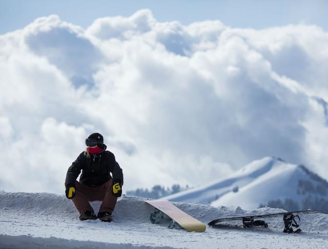Snowboarden auf der Rigi