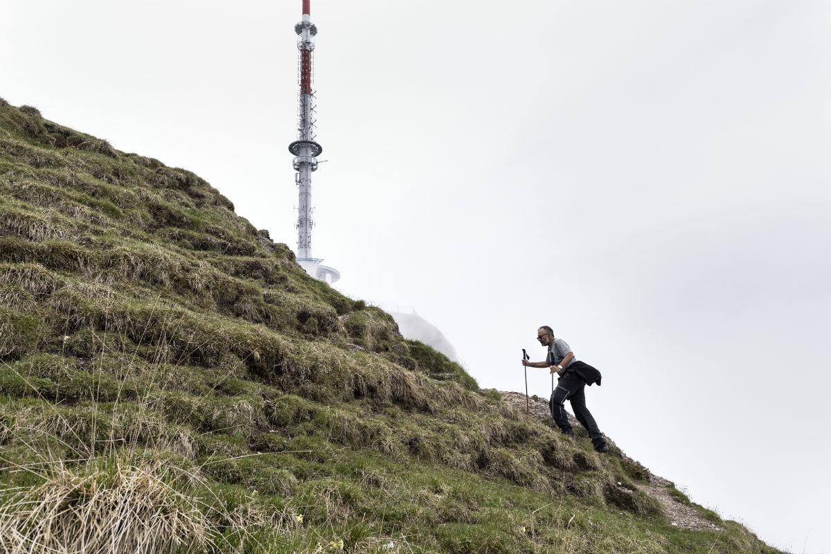 Ruedi Jöhl am Wandern