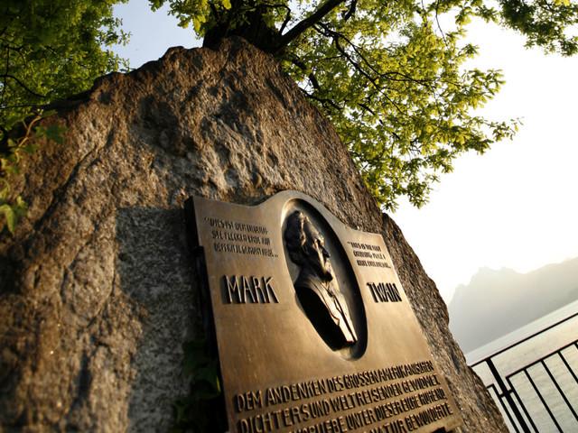 Mark Twain Denkmal Weggis