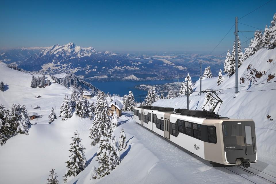 Visualisierung neuer Rigi Zug Winter