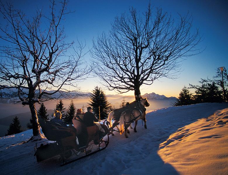 Pferdeschlittenfahrt auf Rigi Kaltbad